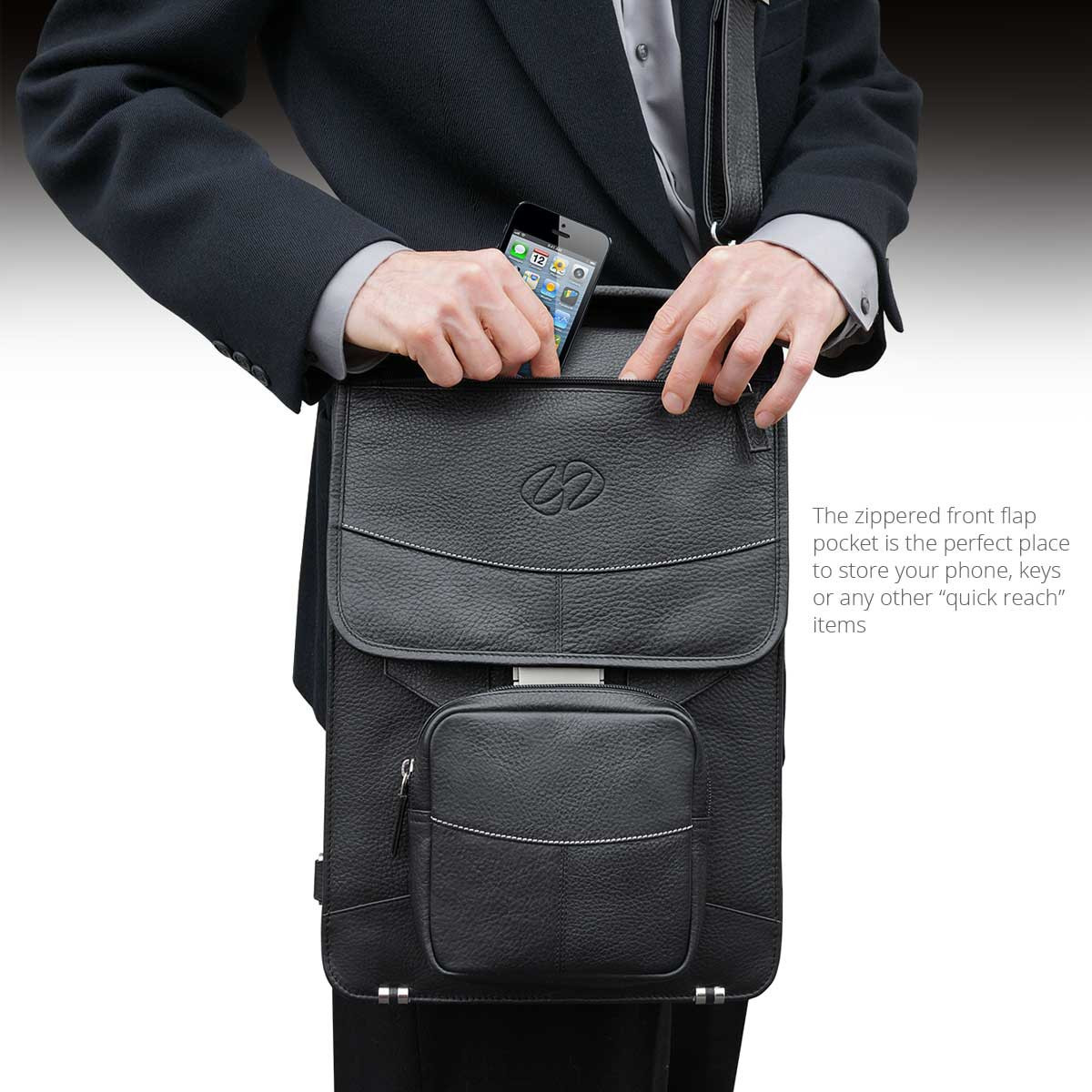 MacCase Premium Leather Briefcase