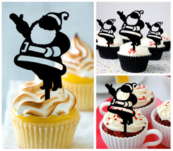 Ca467 Decorations Birthday cupcake toppers i love santa claus Package : 10 pcs - $10.00