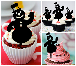 Ca468 Decorations cupcake toppers i love snowman Package : 10 pcs - $10.00