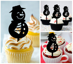 Ca468 Decorations cupcake toppers the snowman Package : 10 pcs - $10.00