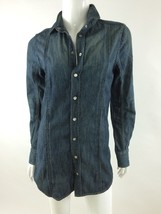 Diesel Brand New Women's lICHRY Denim Long Sleeve Shirt Size XXS Color Blue - $62.34