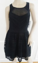 Nwt Trixxi Cocktail Party Bubble Cutout Back Lace  Mini Dress Sz 7 Junio... - $24.70