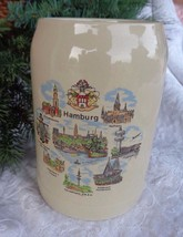 German Beer Stein Mug Tankard Stoneware Vintage 5 1/2 in tall Hamburg Sc... - $25.00