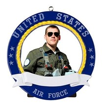 Air Force Picture Frame Personalized Christmas Ornament Gift Present Sol... - $10.76
