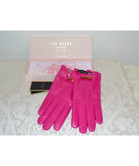 NWT Ted Baker Metal Bow BOXED Hot Deep Pink Lea... - $112.70