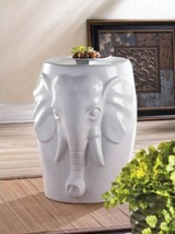 SOLD OUT 10016509 Accent Plus White Ceramic Elephant Table - $96.49