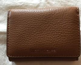 NWT $98 Michael Kors Liane Small Billfold Leather Wallet! Acorn - $63.00