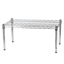 "36"" x 24"" x 14"" Chrome Plated Wire Dunnage Rack - 600 lb. Capacity - $44.46"
