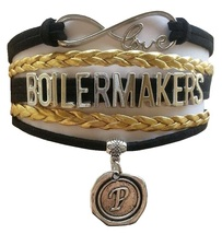 Purdue University Boilermakers Fan Shop Infinity Bracelet Jewelry - $12.99