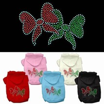 CHRISTMAS BOWS Dog Hoodie Sweatshirt * Rhinestone Puppy Love Pet Sweater... - €14,05 EUR+