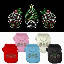 CHRISTMAS CUPCAKES Dog Hoodie Sweatshirt * Rhinestone Puppy Pet Sweater ... - €14,05 EUR+