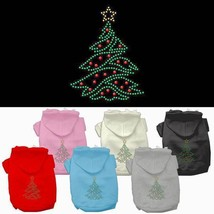 CHRISTMAS TREE Dog Hoodie Sweatshirt * Rhinestone Puppy Love Pet Sweater... - €14,05 EUR+