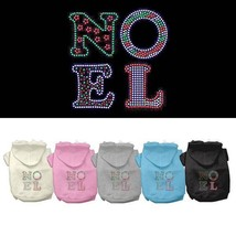 NOEL Dog Hoodie Sweatshirt * Christmas Rhinestone Puppy Love Pet Sweater... - €14,05 EUR+
