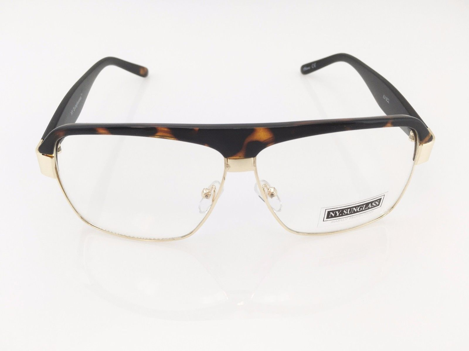 CLASSIC VINTAGE RETRO AVIATOR Style Clear Lens EYE GLASSES ...