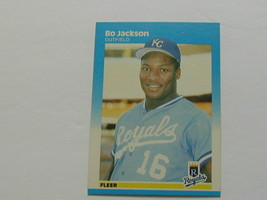 Bo Jackson 1987 Fleer Rookie Card Rc 369 Great Investment Potential - $9.89