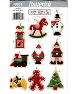Butterick 3595 Soft Stuff Christmas Ornaments Pattern  - $9.95