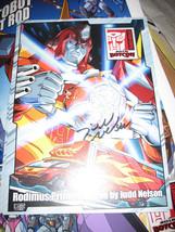 "2016 Transformers BotCon G1 Rodimus Autograph by Judd Nelson Ovrszd Card 10""x7"" - $81.99"