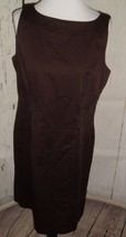 AGB Women's Sleeveless Chocolate Brown Shift Dress Cotton spandex- Size 14 - $13.97