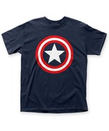 Official Licensed Marvel Comics Captain America Star Shield Logo T-shirt... - £10.73 GBP+