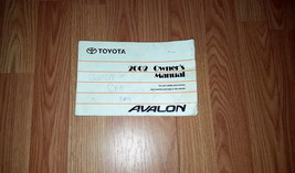2002 Toyota Avalon Owners Manual 04158 - $15.79