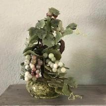 Antique Qing Era Carved Jade Gemstone Tree, Multicolor Jade Grapevine, J... - $2,500.00