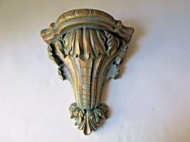 Hollywood regency ornate corbel shelf boho chic distressed - $19.98