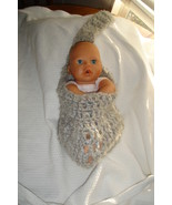 (77)Hand crocheted baby stork sack photo prop - $15.00