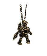 Bioshock Infinite Big Daddy Necklace Pendant Mr Bubbles Brass + Chain Ro... - $162.99