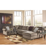 TAMPA-Large Modern Brown Microfiber Living Room... - $1,324.72