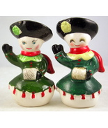Vintage Kreiss ceramic snow ladies salt shakers... - $20.00