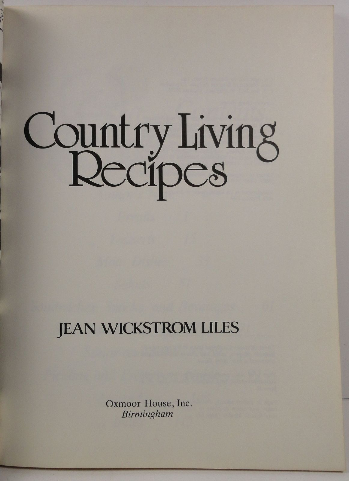 Country Living Recipes by Jean Wickstrom Liles