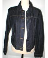 New NWT Womens Dark Blue Levis Jeans Denim Jacket L Large Snap Pockets B... - $67.60
