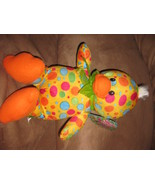 """EASTER DUCK YELLOW w SPOTS New Plush NWT Stuffed Animal With Tags 13"""" SUGAR LOAF - $7.99"""