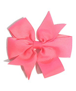 "Neon pink 3"" pinwheel grosgrain bow - $0.99"
