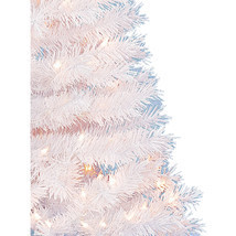 Artificial Christmas Tree Spruce White Xmas Holiday Decor 4 FT 150 Clear... - $43.88