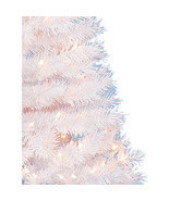 Artificial Christmas Tree Spruce White Xmas Holiday Decor 4 FT 150 Clear Lights  - £22.34 GBP