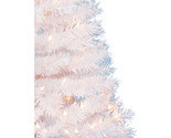 Artificial Christmas Tree Spruce White Xmas Holiday Decor 4 FT 150 Clear Lights