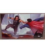 Superman vs Roman Reigns Glossy Art Print 11 x 17 In Hard Plastic Sleeve - $24.99
