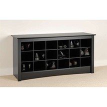 Furniture Black Shoe Storage Cubbie Bench Prepac h2400 l1600 w4800 w5800... - $150.33