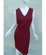 Net-A-Porter Dress Burgundy Sleeveless V Neck Fully Lined Suits Dress Si... - $140.01