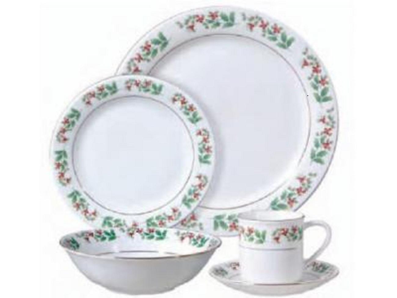 Elegant Christmas Holiday Gold 20 Piece Dinnerware Setnew  sc 1 st  Castrophotos & Christmas China Dinnerware Sets - Castrophotos