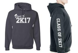 Class of 2017 2K17 Graduation Hoodie, Adult Unisex Mens Sizes - $25.03+
