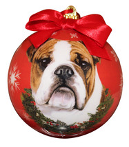 BULLDOG CHRISTMAS BALL ORNAMENT DOG HOLIDAY XMAS PET LOVERS GIFT - $9.94