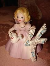 Vintage Josef Originals Pink Angel Figurine 4 Years Old w/ Label Sticker - $9.95