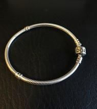 """Genuine Pandora .925 Silver Barrel Clasp Bracelt 7.5"""" 19cm #590702HV - $54.95"""