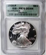 2000-P $1 SILVER AMERICAN EAGLE ICG PR-70 DCAM - $693.00