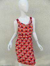 ANTHROPOLOGIE MOULINETTE SOEURS Dress Polka Dot 100% Silk Orange Red Dre... - $37.15