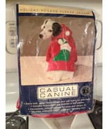 Casual Canine Red Holiday Hooded Fleece Stocking Dog Puppy Sweater Jacke... - $10.99
