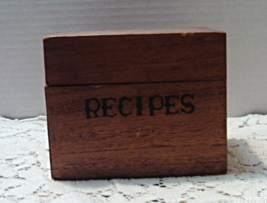 Vintage STYSON Wood RECIPES Box With Recipes On Cards // Mid Century Box - $11.25