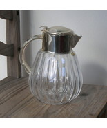Vintage Quist W Germany Silver Glass Water Pitcher Carafe Glass Ice In... - $225.00